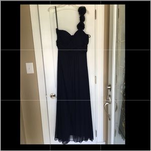 Betsy & Adam size 14 color dark Navy dress
